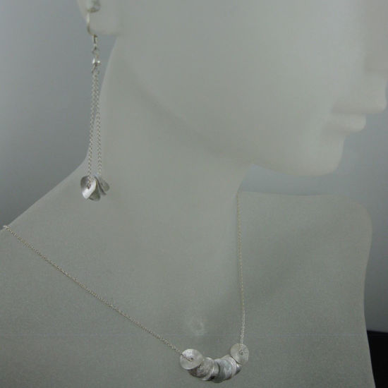 Wholesale 925 Sterling Silver Jewelry Set- Wavy Disc
