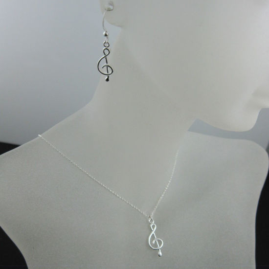 Wholesale 925 Sterling Silver Jewelry Set- Music Note