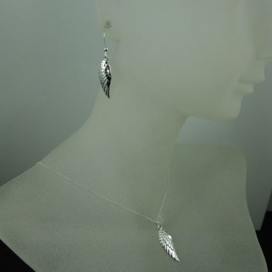Wholesale 925 Sterling Silver Jewelry Set-Right Wing Pendant