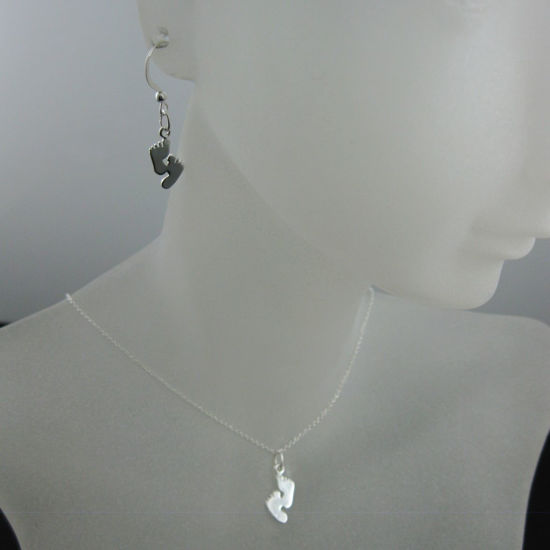 Wholesale 925 Sterling Silver Jewelry Set-Footprints Charm