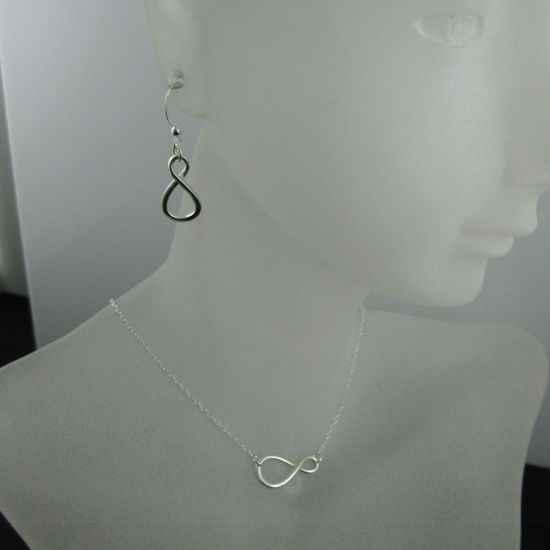 Wholesale 925 Sterling Silver Jewelry Set-Figure 8-Warped Infinity Charm