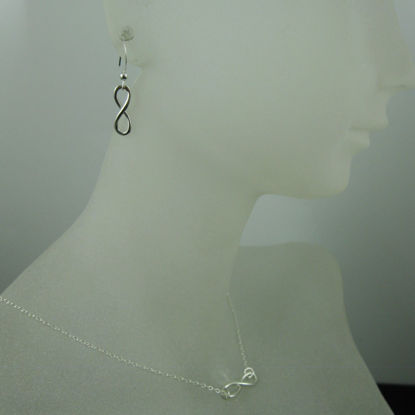 Wholesale 925 Sterling Silver Jewelry Set- Smooth Infinity Charm