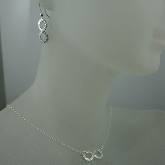 Wholesale 925 Sterling Silver Jewelry Set-Hammered Infinity Charm