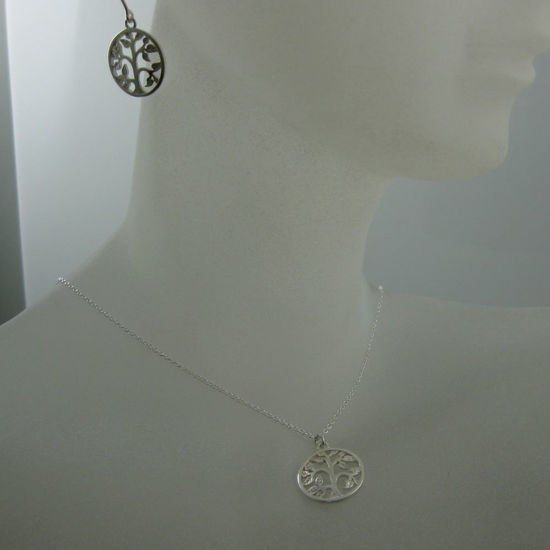 Wholesale 925 Sterling Silver Jewelry Set-Tree with leaves charm