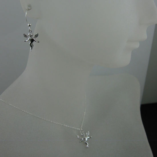 Wholesale 925 Sterling Silver Jewelry Set- Angel Charm