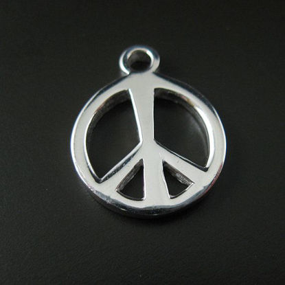 Wholesale Sterling Silver Peace Charm, Charms and Pendants for Jewelry Making, Wholesale Findings