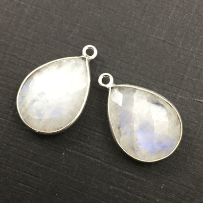 Wholesale Sterling Silver Teardrop Bezel Moonstone Gemstone Pendant, Wholesale Gemstone Pendants for Jewelry Making
