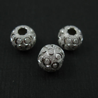 Wholesale Sterling Silver 8mm Shimmering Round Beads for Jewelry Making, Wholesale Beads and Findings