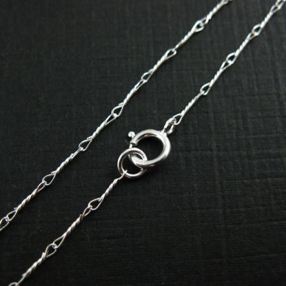 Wholesale Sterling Silver Fancy Twisted Link Necklace Chain, Wholesale Bulk Necklace Chains