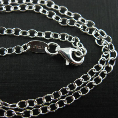 Wholesale Sterling Silver 4mm Cable Chain Necklace, Wholesale Bulk Necklace Chains