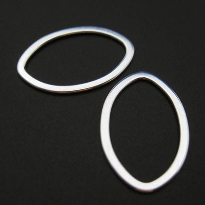 Wholesale Sterling Silver Big Oval Link Connector, Charms and Pendants for Jewelry Making, Wholesale Findings