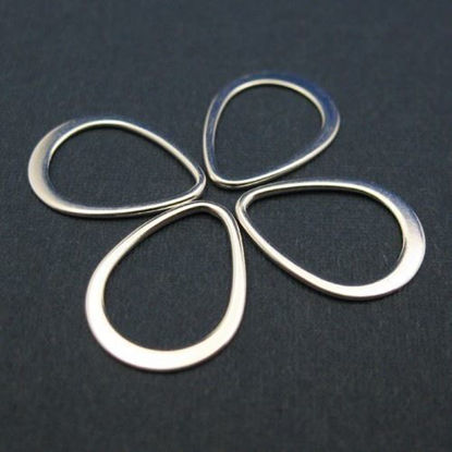 Wholesale Sterling Silver Small Teardrop Link, Charms and Pendants for Jewelry Making, Wholesale Findings