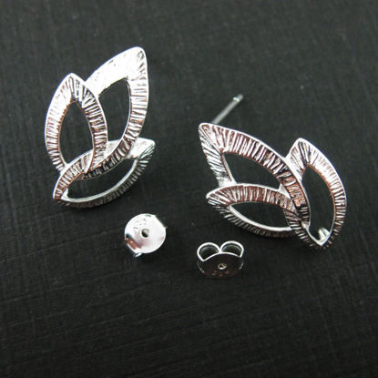 Wholesale Sterling Silver Textured Leaf Earwire  for Jewelry Making, Wholesale Earwire and Findings