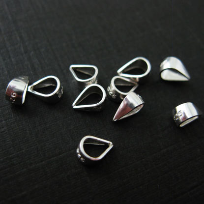 Wholesale Sterling Silver Simple Closed Bail Connector, Wholesale Findings