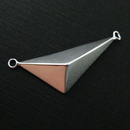 Wholesale Sterling Silver Large Triangle Pendant, Charms and Pendants for Jewelry Making, Wholesale Findings