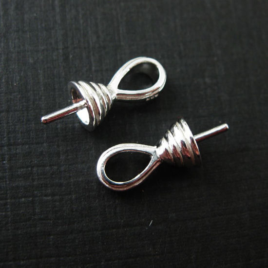 Wholesale Sterling Silver Fancy Bead Cap with Post, Wholesale Findings