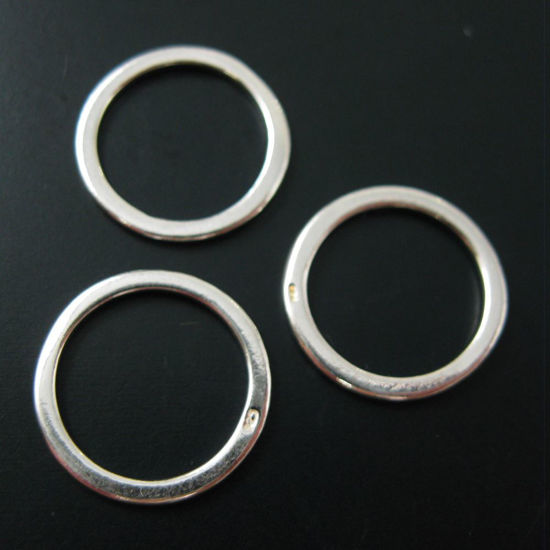 Wholesale Sterling Silver 14mm Circle Closed Jumpring Charm, Charms and Pendants for Jewelry Making, Wholesale Findings