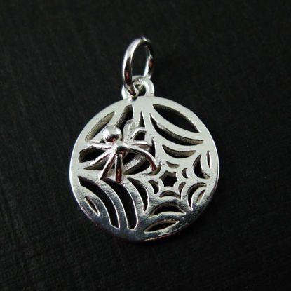 Wholesale Sterling Silver Spider Web Charm, Charms and Pendants for Jewelry Making, Wholesale Findings