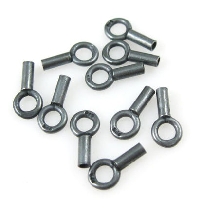 Wholesale Oxidized Sterling Silver Plain Tube End, 8mm (sold per 24 pcs)