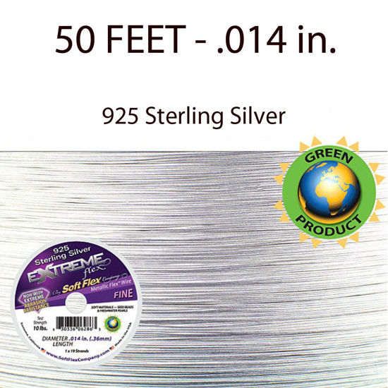 Wholesale Extreme Flex Sterling Silver 19 Strand Fine Wire 50 ft, Wholesale Beading and Jewelry Making Supplies