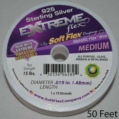 Wholesale Extreme Flex Sterling Silver 19 Strand Fine Wire 50 ft,Soft Flex, Wholesale Beading and Jewelry Making Supplies