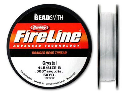 Wholesale Beadsmith Fireline Braided Thread, Crystal Thread 50 Yards Size 4lb Test, Wholesale Beading Supplies