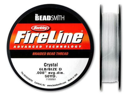 Wholesale Beadsmith Fireline Braided Thread, Crystal Thread 50 Yards Size 6lb Test, Wholesale Beading Supplies