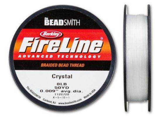 Wholesale Beadsmith Fireline Braided Thread, Crystal Thread 50 Yards Size 8lb Test, Wholesale Beading Supplies