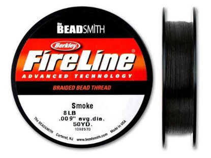 Wholesale Beadsmith Fireline Braided Thread, Smoke Thread 50 Yards Size 8lb Test, Wholesale Beading Supplies