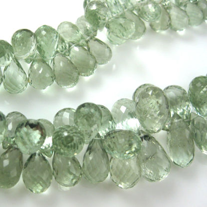 Wholesale Semi Precious Gemstone Beads  - Teardrop Shape - 100% Genuine Green Amethyst Gemstone Faceted Drops - Grade AA Briolette Nature Stone
