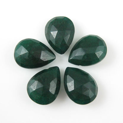 Wholesale Semiprecious Gemstone Beads -Dyed Emerald Gemstone Bead Faceted Pear Shape - Ropada - Grade AA - 1 piece