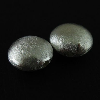Wholesale Sterling Silver Textured Coin Shaped Beads for Jewelry Making, Wholesale Beads and Findings