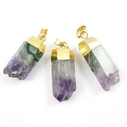 Wholesale Druzy Gemstone Natural 6 Sided Amethyst Pendulum Pendant Wholesale Pendants for Jewelry Making