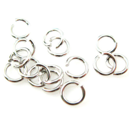 Wholesale Rhodium Sterling Silver 21 Gauge 4mm Open Jumprings for Jewelry Making, Wholesale Findings