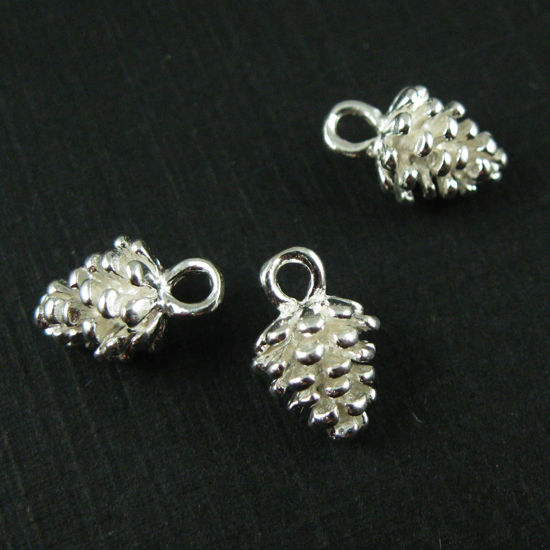 Wholesale Sterling Silver Pine Cone Charm, Charms and Pendants for Jewelry Making, Wholesale Findings