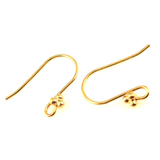 Wholesale Gold plated Sterling Silver Fancy Fishhook with Bal Flower for Jewelry Making, Wholesale Earwire and Findings