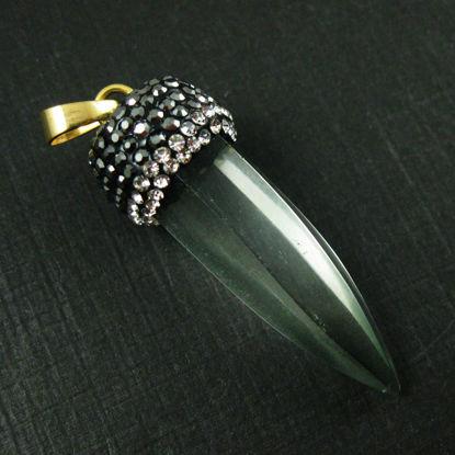 Wholesale Druzy Gemstone Natural Crystal Spike Point Pendulum Pendant , Wholesale Pendants for Jewelry Making
