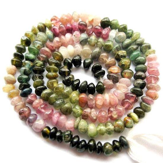 Wholesale Tourmaline-Semi Precious Gemstones,Loose Gemstones,Gemstone Beads-Plain Button Beads-3.5-4 mm