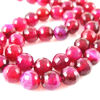 Wholesale Fuchsia Agate Beads - Faceted Round 8mm (Sold Per Strand)