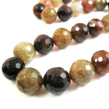 Wholesale Multi-Colored Agate Beads - Faceted Round 10mm (Sold Per Strand)