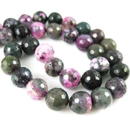 Wholesale Purple and Green Agate Beads - Faceted Round 10mm (Sold Per Strand)