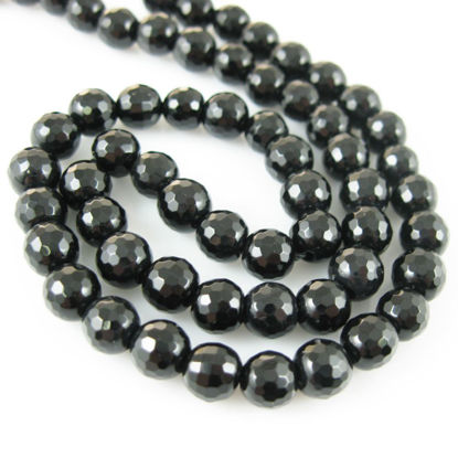 Wholesale Black Onyx Beads - 6mm Faceted Round (Sold Per Strand)