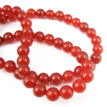 Wholesale Red Jade Beads - 6mm Smooth Round (Sold Per Strand)