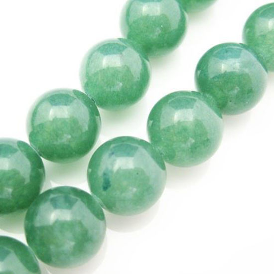 Wholesale Green Jade Beads - 10mm Smooth Round (Sold Per Strand)