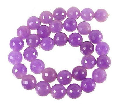 Wholesale Purple Jade Beads - 6mm Faceted Round (Sold Per Strand)