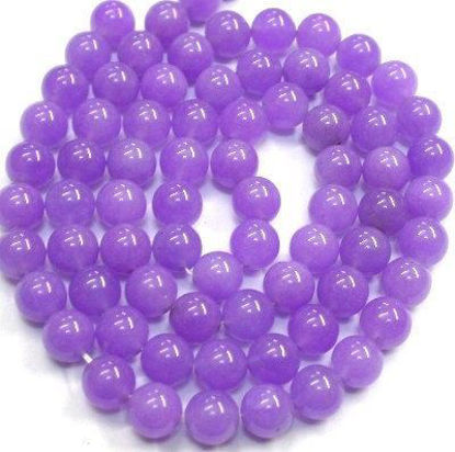 Wholesale Purple Jade Beads - 10mm Smooth Round (Sold Per Strand)
