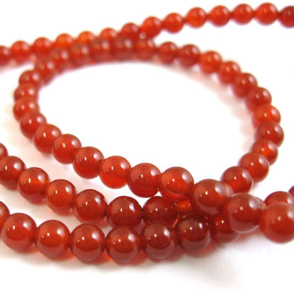 Wholesale Red Jade Beads - 4mm Smooth Round (Sold Per Strand)