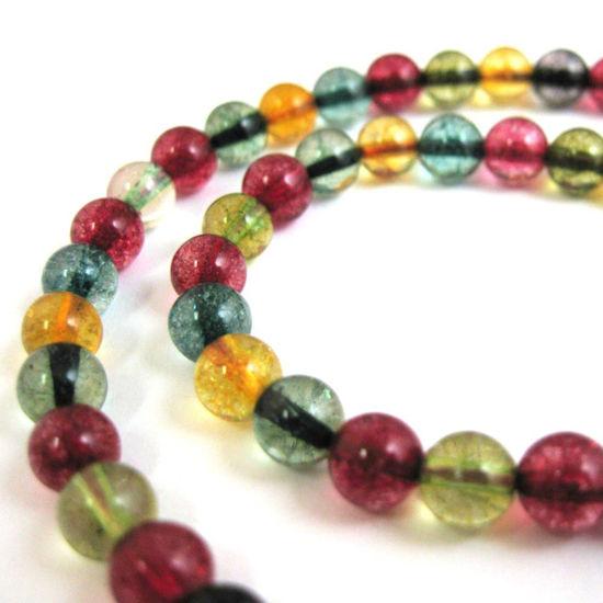 Wholesale Multi-Colored Quartz Beads - 6mm Smooth Round (Sold Per Strand)
