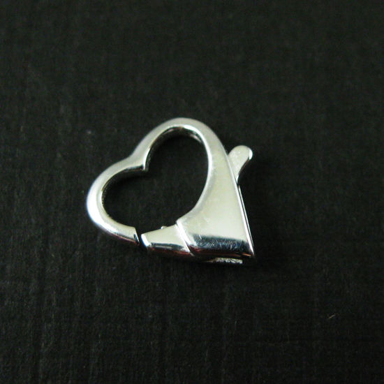 Wholesale Sterling Silver Large Heart Lobster Clasp Charm (1 pc)