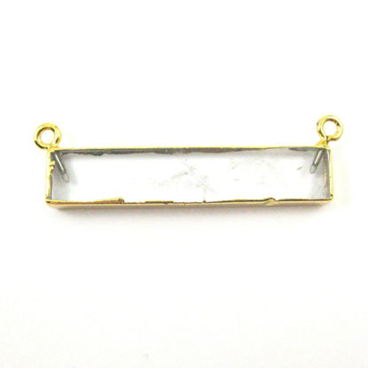 Wholesale Clear Crystal Bar Pendant, Gold dipped Bar,Crystal Bar Connector,Extra Long Bar,Rectangle Bar Charm Pendant
